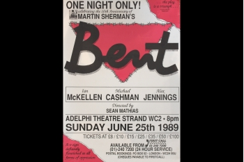 Bent Fundraiser in aid of Stonewall (poster) 590 x 410mm